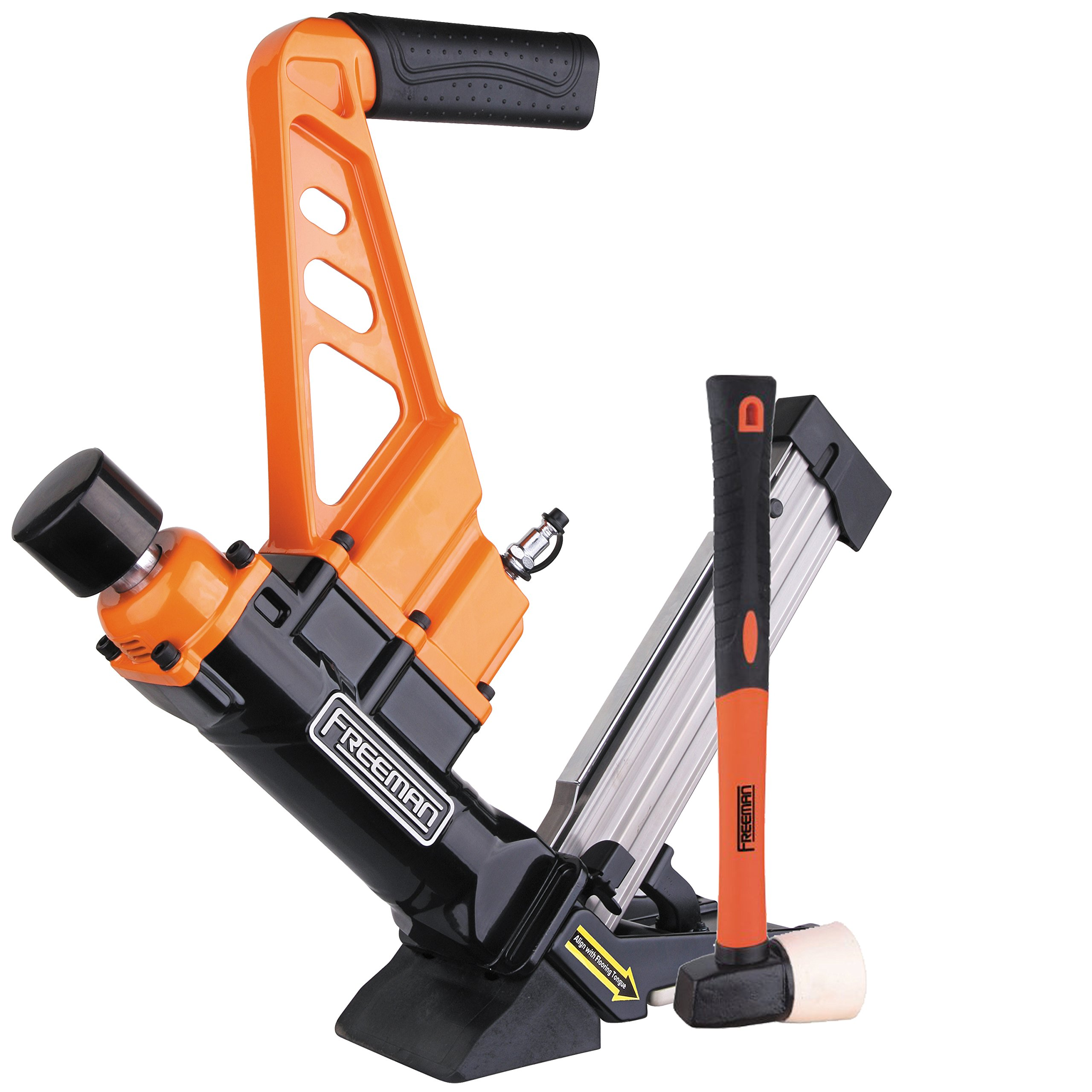 Freeman PDX50C 3-in-1 Flooring Cleat Nailer and Stapler Ergonomic & Lightweight Nail Gun for Tongue & Grove & Hardwood Flooring, Uses T-Cleats, L-Cleats & Staples