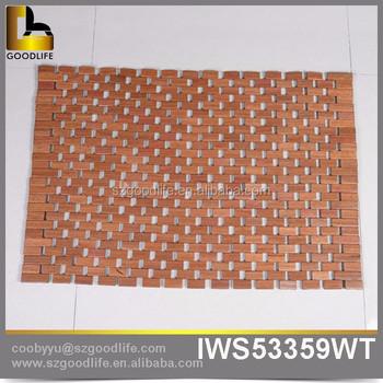 bathroom floor mats for wood non slip bathroom teak shower mat buy non slip bathroom floor
