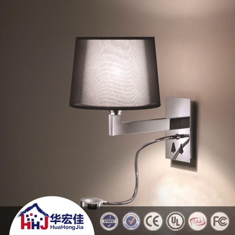 led t te de lit lecture lampe de mur mont avec double tissu ombre pour h tel buy t te de lit. Black Bedroom Furniture Sets. Home Design Ideas