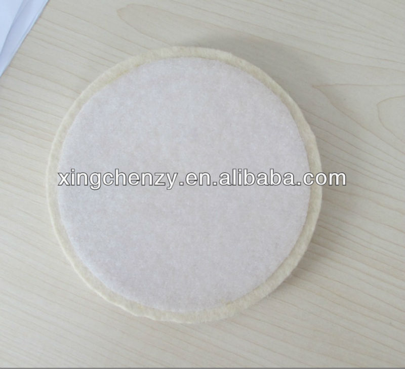 wool felt polishing wheel with velcro
