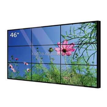 "New Design Indoor TFT 3X3 46""ultra narrow bezel lcd video wall display"