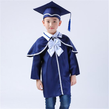 Classic European Fashion Kids Baby Unisex Cap Gown Kindergarten