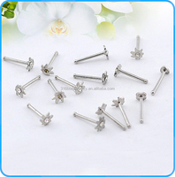 NR01032 pot leaf stud unique nose studs