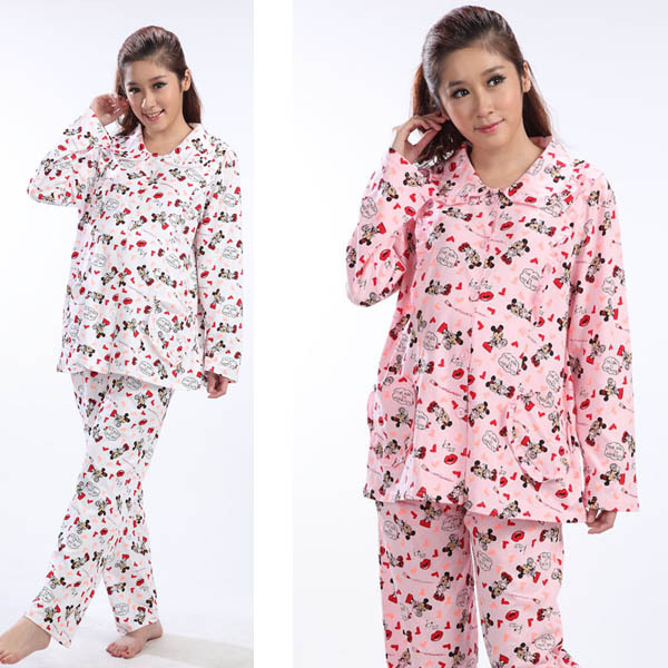5cab88727df36 Get Quotations · 2015 Nurse Mother Spring Clothes Maternity Sleepwear Set pregnancy  Sleep Suit for Pregnant Women 100%
