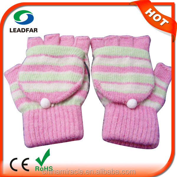 USB Hand Warmer Glove battery heated thin gloves super fabrics half finger knit gloves