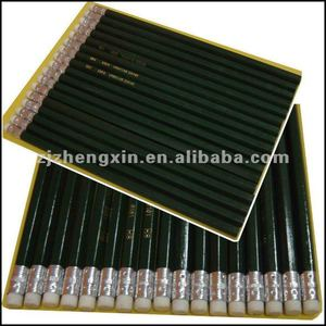green hb pencils with eraser
