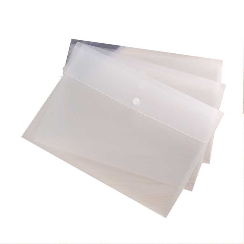 Cheap Printing Custom A4 A5 Clear Plastic Presentation File Folder for File and Business Card