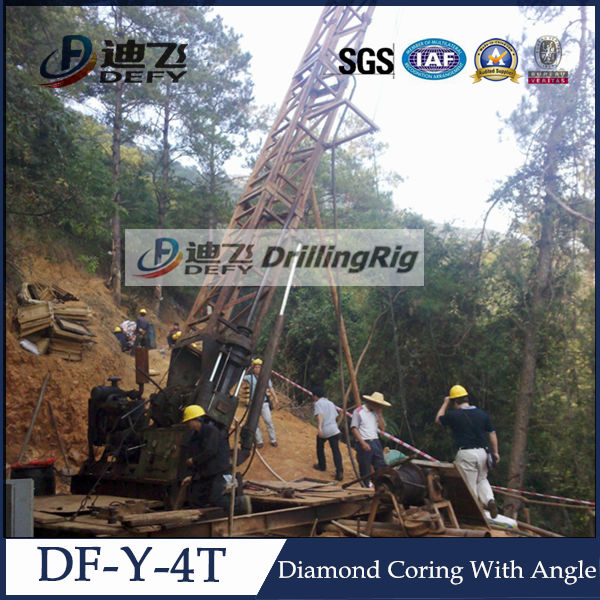 Drilling With Angle!!!Efficient DF-Y-4T HQ Core Sampling Drilling Rig