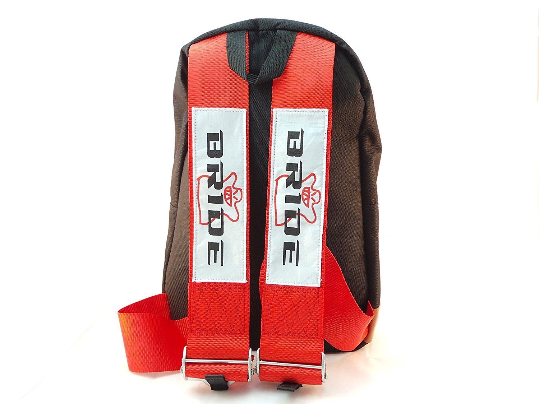 09241fcec8a Get Quotations · Bride JDM Racing Backpack Racing Harness Shoulder Straps  Zipper Pockets w Padded Computer Compartment (Bride