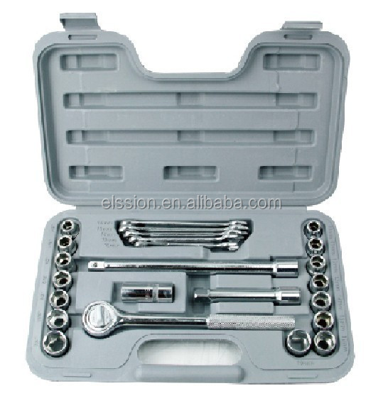 "Promotional 24 pcs Socket Set 1/2"" with spanners"