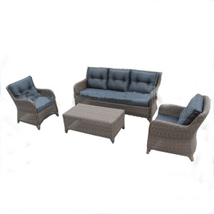 Half round rattan patio sofa
