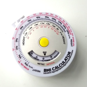 promotion aluminum metal round BMI weight calculator with measuring tape