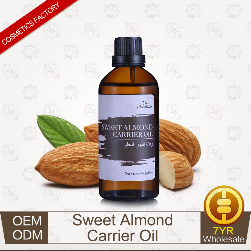100% Pure Plants Extracts Sweet Almond Carrier Oil Base Oil OEM/ODM Professional Supplier
