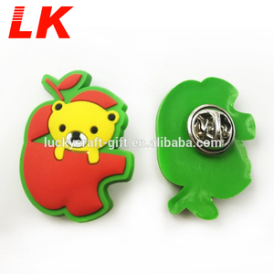 Fashion Hot Selling Wholesale Custom Silicone Pvc Rubber 3d Lapel Pins