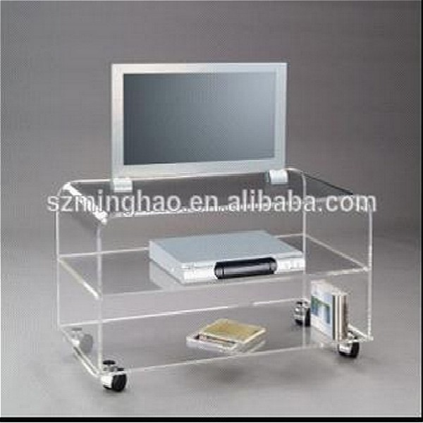 Hot Clear Acrylic Living Room Furniture Tv Stands