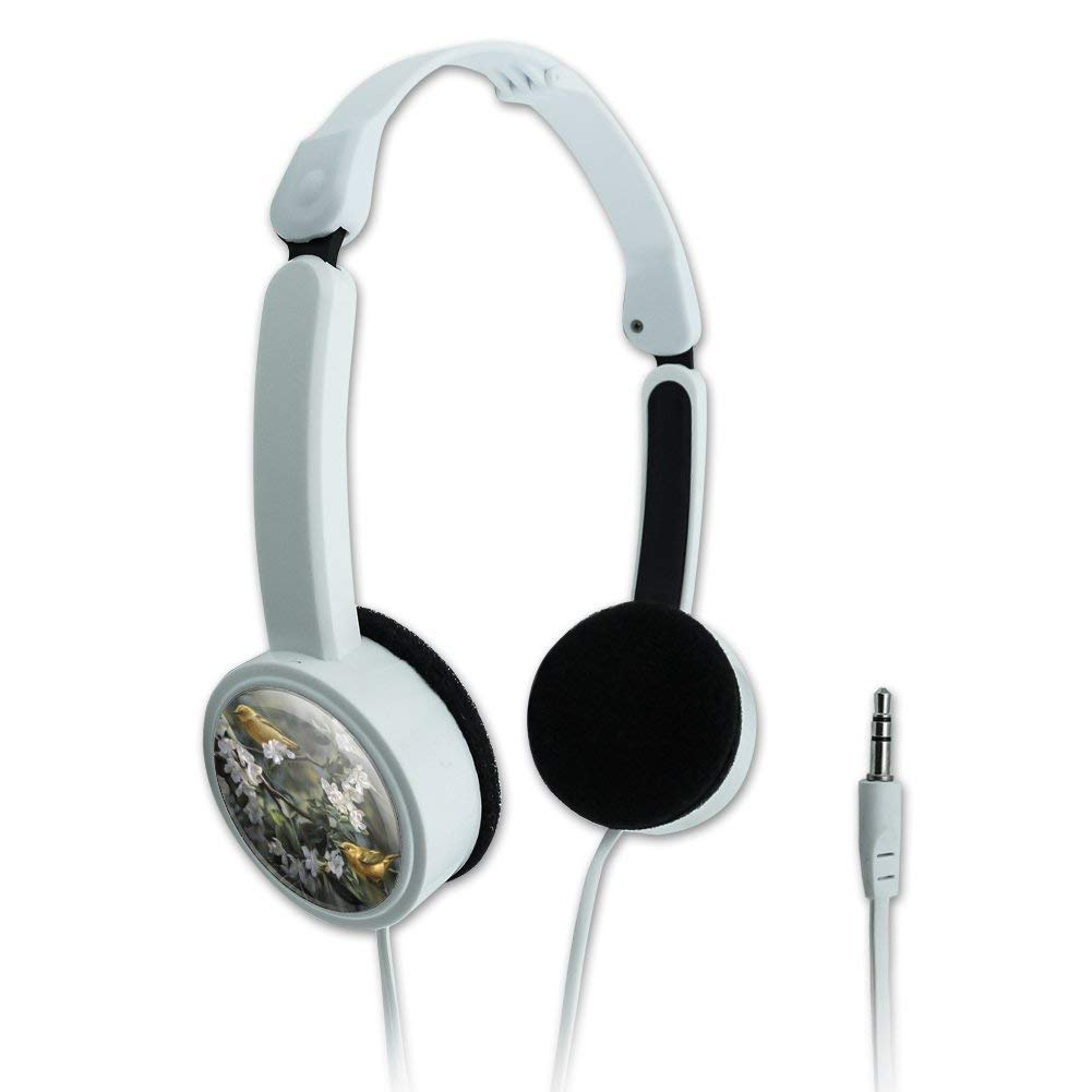 Graphics and More American Yellow Warblers Birds Novelty Travel Portable On-Ear Foldable Headphones