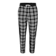 On-trend urban style All over tartan pattern Ankle zip Black Tartan Trousers