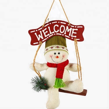 christmas decorations hanging cards swing stuffed toys cute lovers snowman dolls indoor christmas decorations