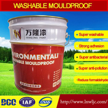 Washable interior wall coating in building white acrylic latex spray paint