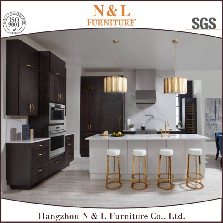 Elegant Purple color kitchen cabinet furniture modern kitchen design pictures