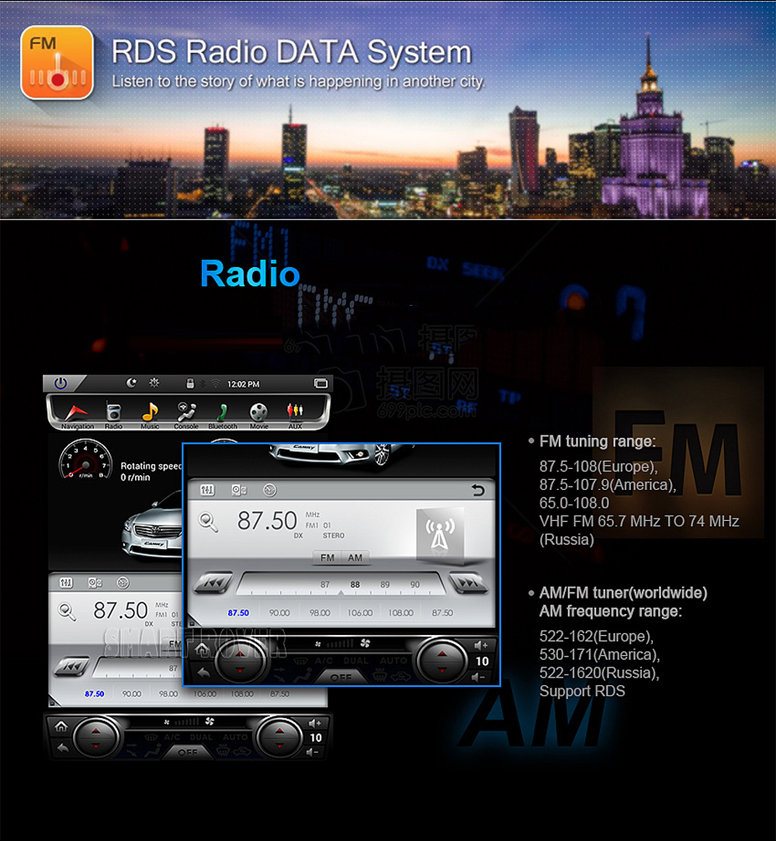 touch screen radio for toyota corolla