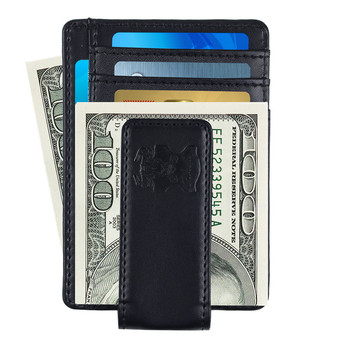 Slim Custom Money Clip Wallet Mens Wallet Genuine Leather