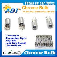 Amber Lighting Chrome Bulbs 194 W5W Signal Side Marker T10