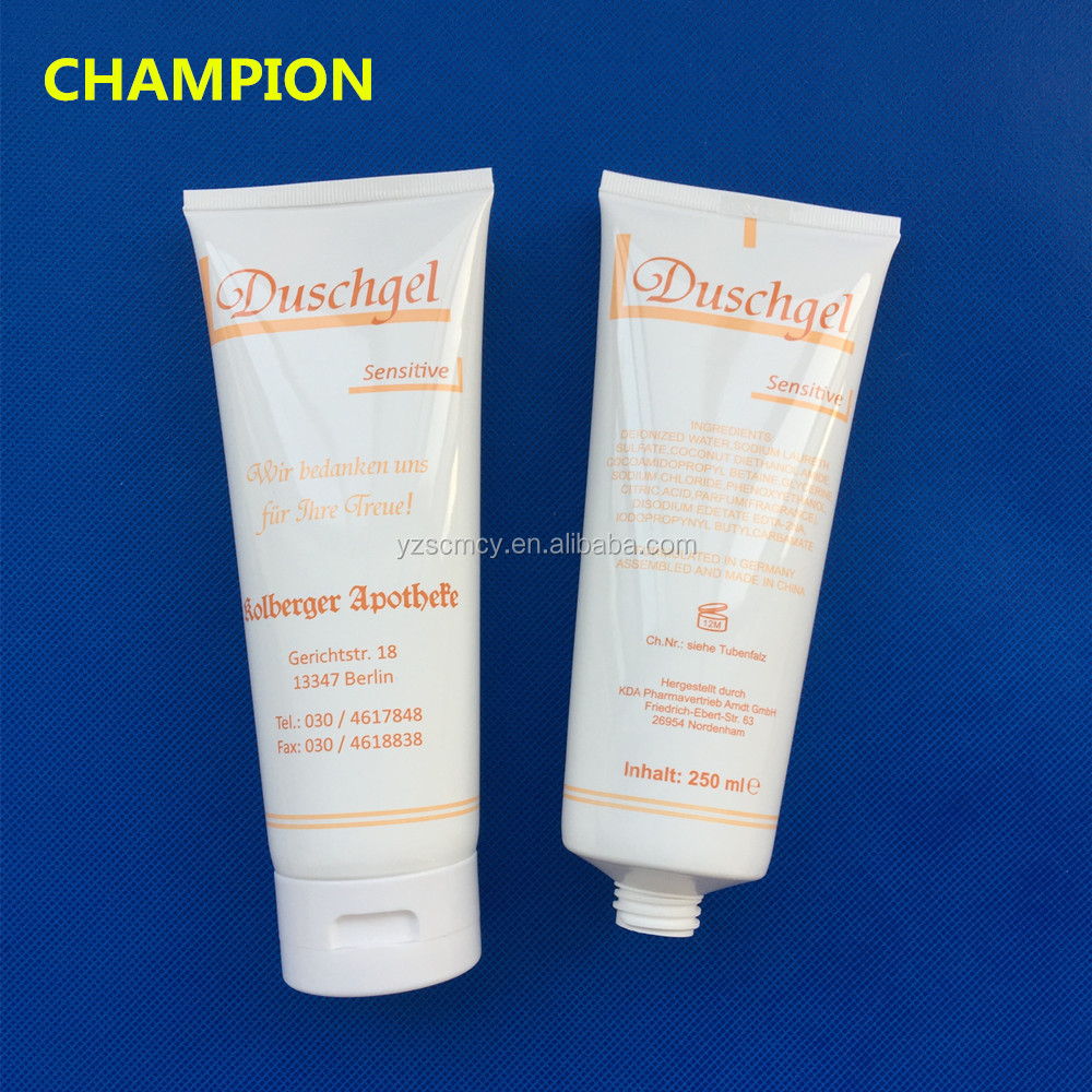 250ml 8 ounce plastic white cosmetic tube