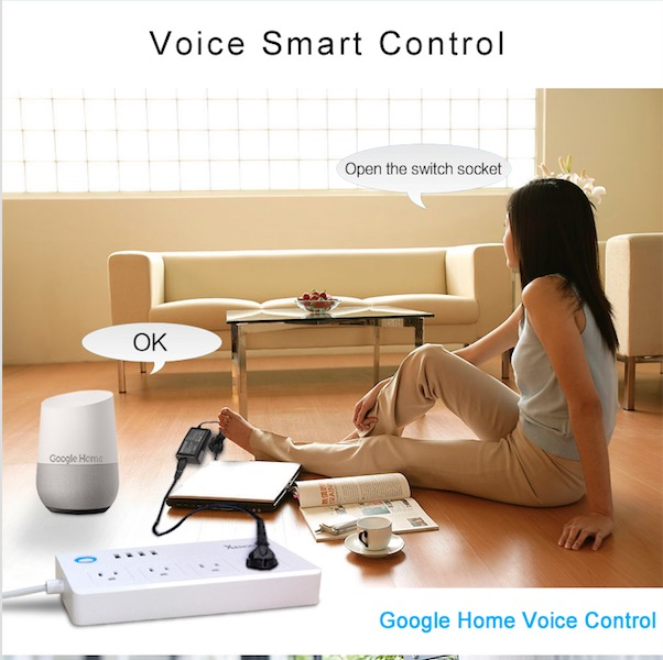 Xenon USB Smart Socket Wifi Smart Power Plug APP Wireless Remote Control 4 way Outlet 908.42MHz for US