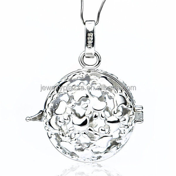 Cylz0104 925 sterling silver cat paws harmony ball angel caller cylz0104 925 sterling silver cat paws harmony ball angel caller necklace 18mm aloadofball Gallery