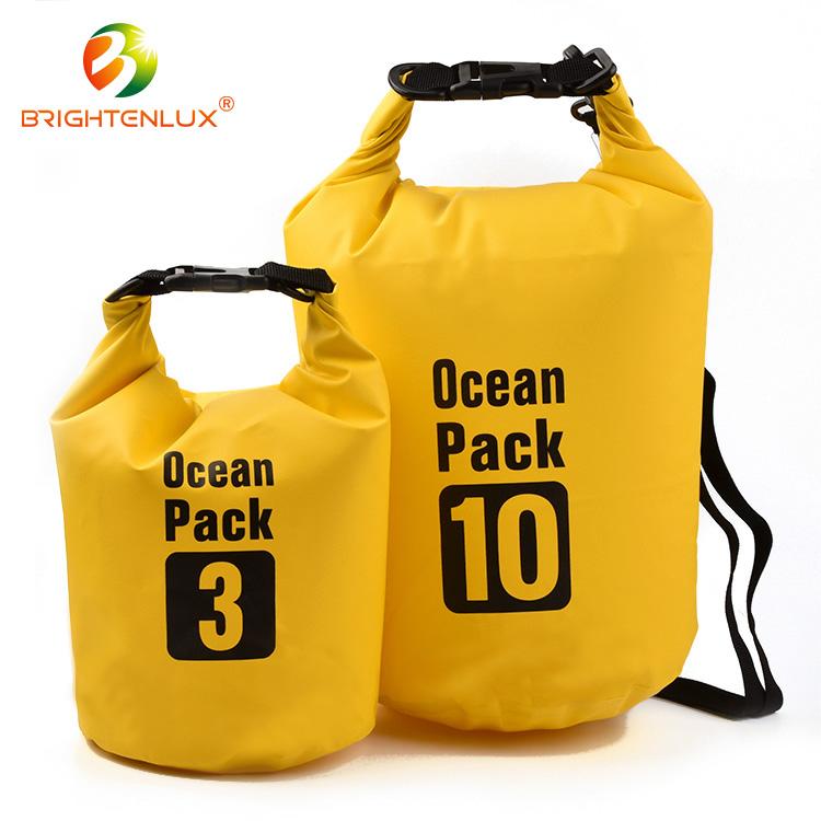 Ningbo fábrica de pvc de poliéster 500D 5L flotante seco impermeable bolsa para acampar al aire libre
