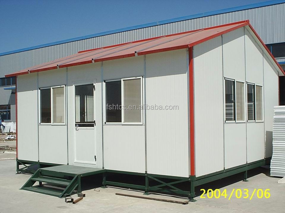 Slope roof small prefab cheap mini mobile homes for sale - Casetas pvc exterior ...