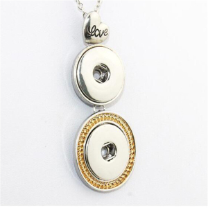 Online Shopping UK Three Pendant Necklace Love Necklace Snap Button Gold Jewellery