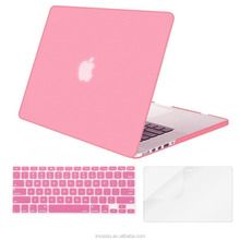 Wholesale mosiso new product rubber skin case cover 15 inch laptop pink snap on hard shell