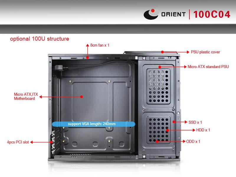 Mini Secc Slim Micro Atx Computer Case With Chassis Size