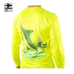Performance UPF 50 UV Sun Protection Long Sleeve Quick Dry Fishing Shirt