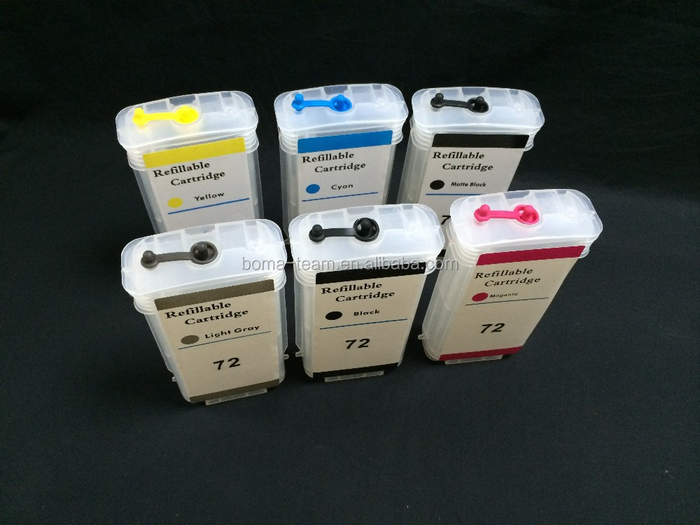 130ml *6color Empty Refill Ink Cartridge For Hp Designjet T1100 ...
