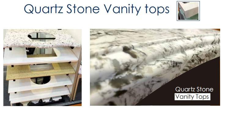 Boa venda faísca branco pedra de quartzo bancada do banheiro e parte superior da vaidade