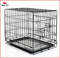 Folding Puppy Large Steel Dog Training Crate / Cage