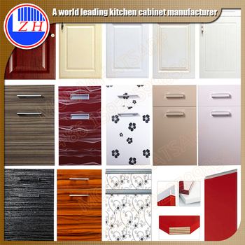 factory price melamine mdf acrylic uv pvc kitchen cabinet door
