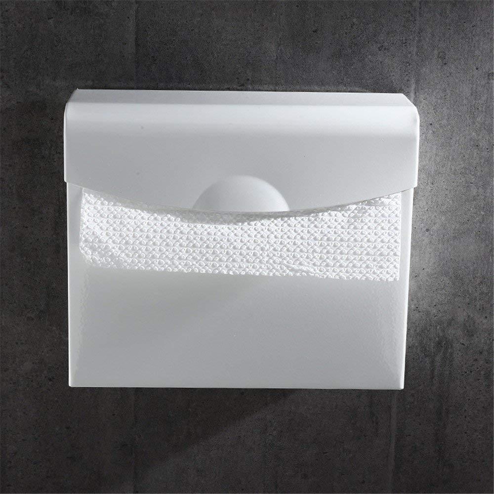 Toilet Paper Holders Nordic White Space Aluminum Toilet Paper Rack White Hotel Extension Mobile Phone Rack Paper Towel Rack Bathroom Toilet Paper Box,Briefcase Paper Towel Box