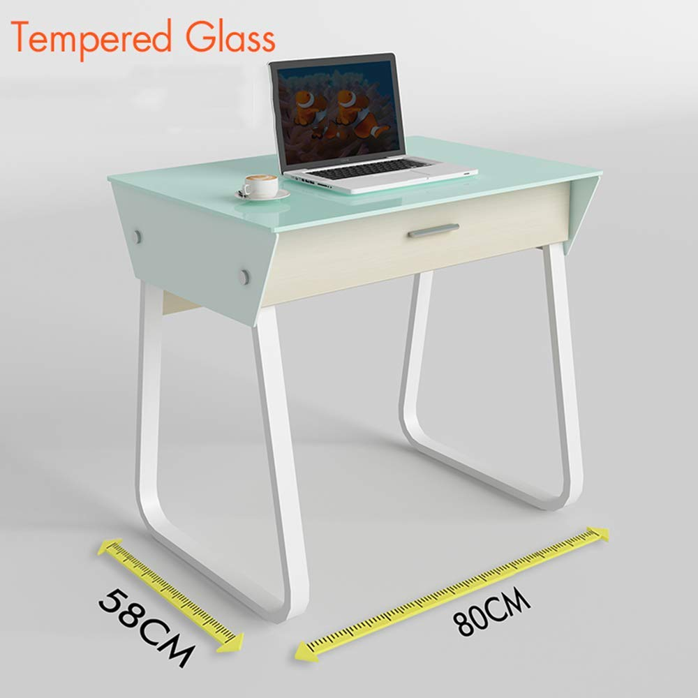 ZHIRONG Computer Desk,80cm Office Desk Computer Table Study Writing Desk for Home Office with Drawer 805876CM