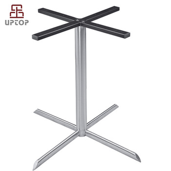 Modern Style Brushed Chrome Stainless Steel Dining Table Base For