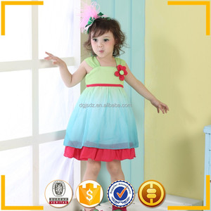 sunny kids chinese fancy dress children blue and red party dress children evening dress
