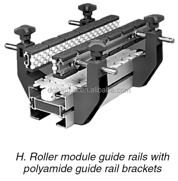 H257 Conveyor Side Guide Rails Adjustable Brackets View