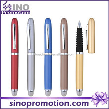Metal pen with LED light with eva comfortable soft grip