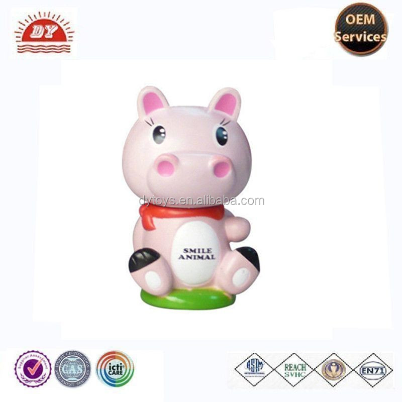 cheap plastic cow figurine with cartioon