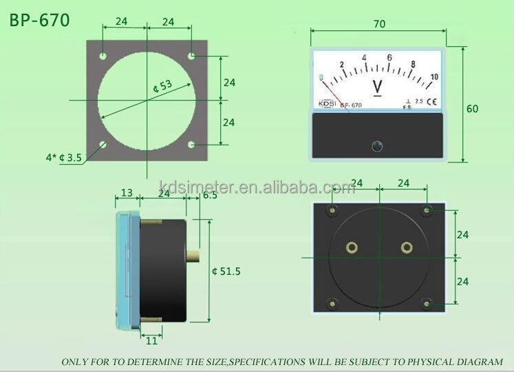 Bp-670 Dc 10v 180% Percent Panel Meter