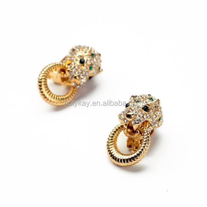 2015 latest design earring special animal 2 color to choose gold