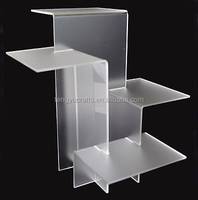 Wholesale 4 Plate White Frosted Acrylic Riser shoe Display Stand ornaments tray showcase